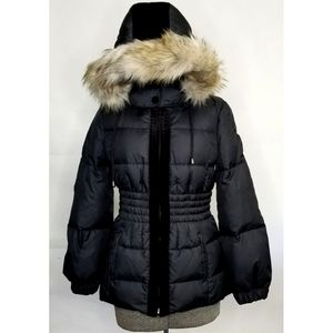 JUICY COUTURE Down Parka Faux Fur Hooded Jacket